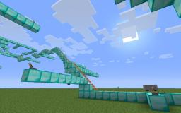 The diamond and redstone rollercoaster! Minecraft Map & Project
