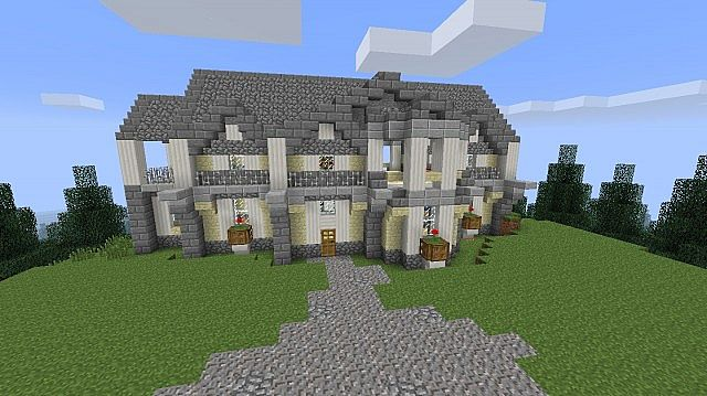 Villa on a hill minecraft project - Minecraft villa ...