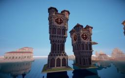 Guruth's Medieval Clock Towers (Now functional) Minecraft Map & Project