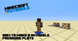 [1.5+] How to make Invisible Pressure Plate Minecraft Blog