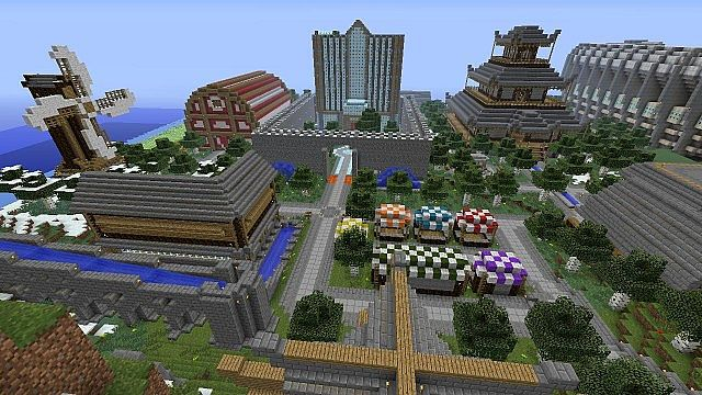 """The 4 Colossus"" Minecraft Xbox 360 adventure map ..."