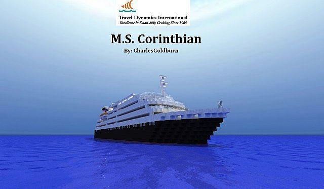 MS Corinthian REALCruise Ship 11 Scale Minecraft Project
