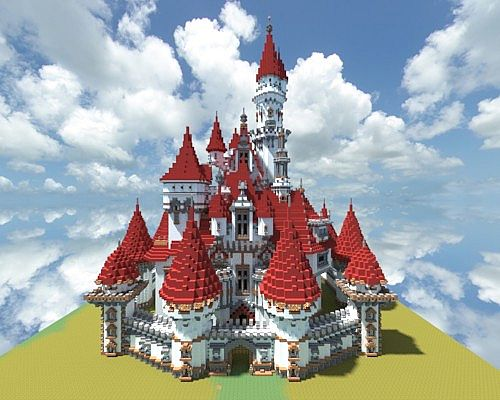 Minecraft Disney Castle Tutorial Minecraft Disney Land Castle