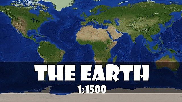 The recreation of the Earth 11500 scale version21 Minecraft – Map World Minecraft