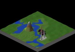 Custom Terrain for Legend of Tori map Minecraft Project