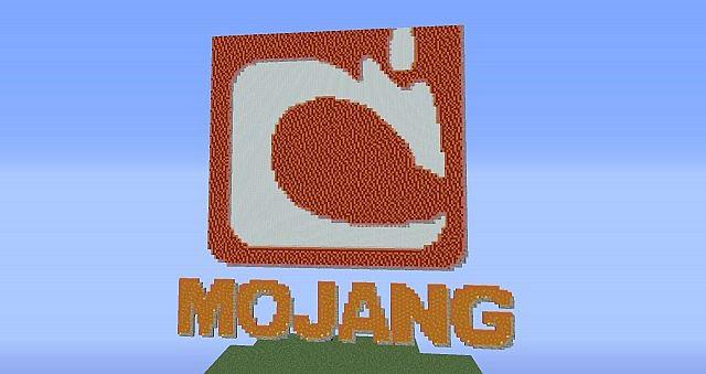 Mojang logo pixel art Minecraft Project