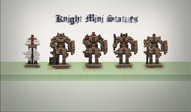 Майнкрафт как сделать статую рыцаря