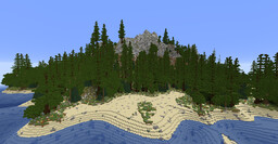 Forested Volcano Island Minecraft Map & Project