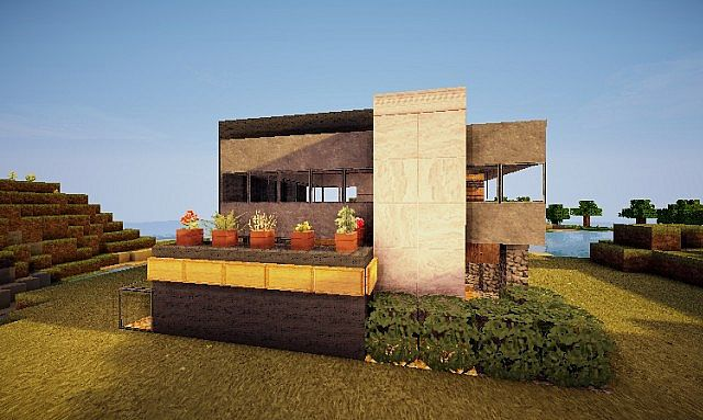Pigonges Contemporary Survival House 3 10x10 Minecraft Project