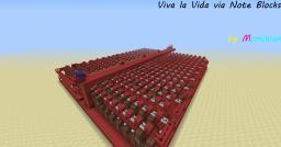 Viva la Vida via Note Blocks Minecraft Map & Project