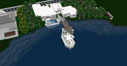 Modern Riverfront... Infinity Pool... Bayview Heights Minecraft Map & Project