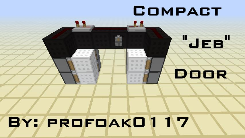 Compact Simple Jeb Door Aka Seamless Piston Door Minecraft Blog
