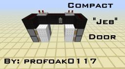 """Compact, Simple """"Jeb"""" Door AKA Seamless Piston Door Minecraft Blog Post"""