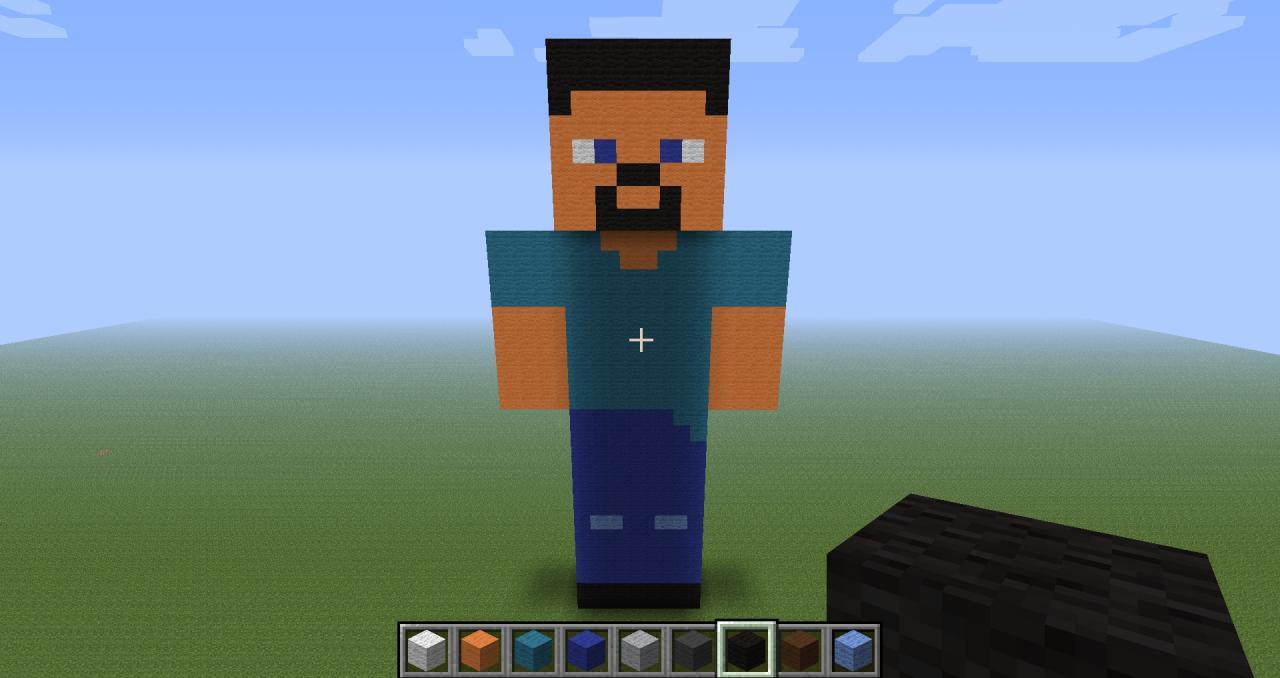 how to build steve in minecraft
