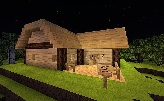 Minecraft Starter Home Complete With End Portal And Guest