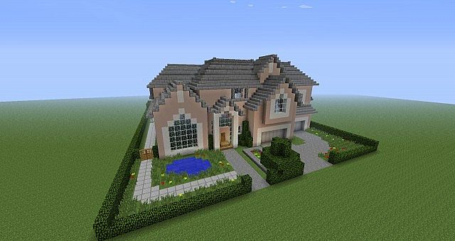 how to build a realistic mansion in minecraft
