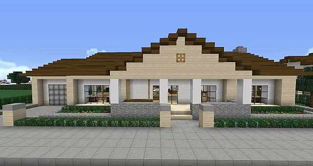Ranch house minecraft project for Build a ranch home