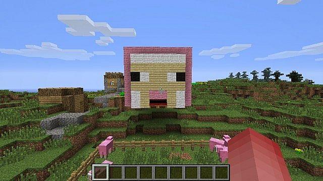 Pink Sheep Head Wool Art Minecraft Project