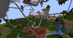Longest Roller Coaster EVER! 50 minutes. Minecraft