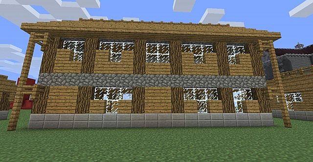 Wooden house  Maison en bois Minecraft Project ~ Maison En Bois Minecraft