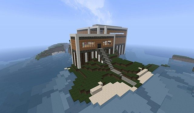 A Somewhat Modern House Minecraft Project