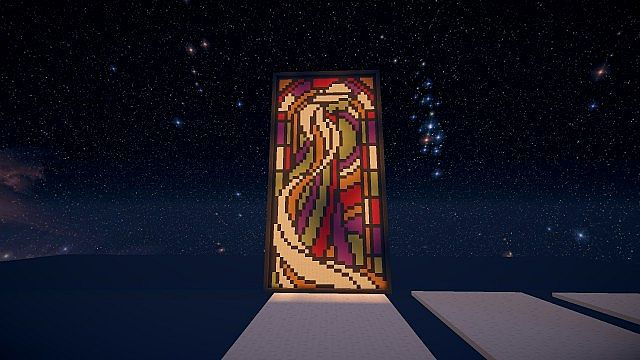 Stained glass style minecraft project for Window design minecraft