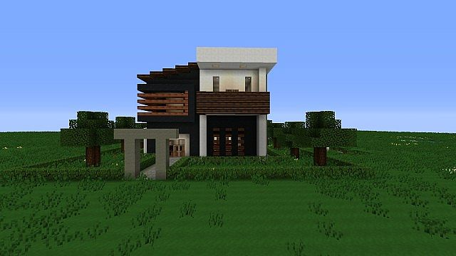 Simple Modern House Minecraft minecraft modern house tutorial stepstep pictures | shoe800