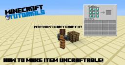 [20 Subscribers Spacial!] [Adventure Map Tips] How to make item uncraftable! Minecraft Blog