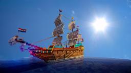 Dutch V.O.C. ship BATAVIA Minecraft Map & Project