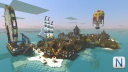 Ciudad del festival Minecraft