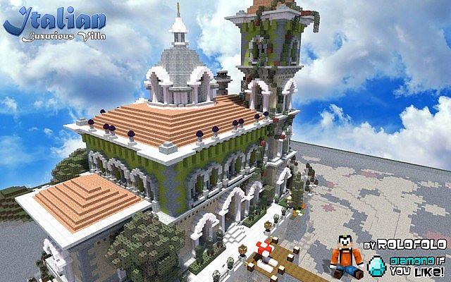Italian restaurant exterior - Classicisme Italian Villa At Wok And Minecraft Monday Youtube Vid