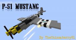 P-51 Mustang - WWII Fighter Plane Minecraft Map & Project