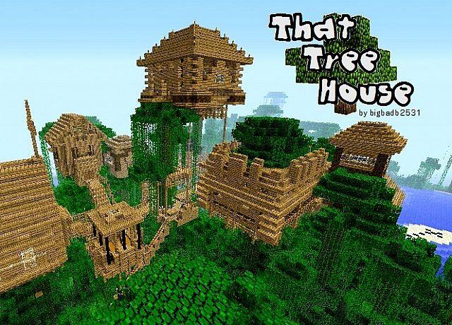 дом на дереве карта для майнкрафт 1.7.10 #1
