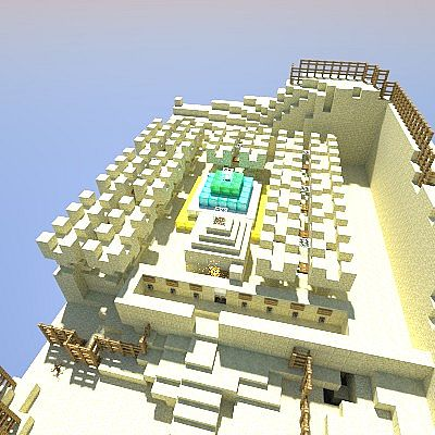 Realistic Render of Temple from 1 Part of the Map
