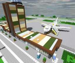 Airport Lleida-Alguaire (Terminal exterior full detail) Minecraft Map & Project