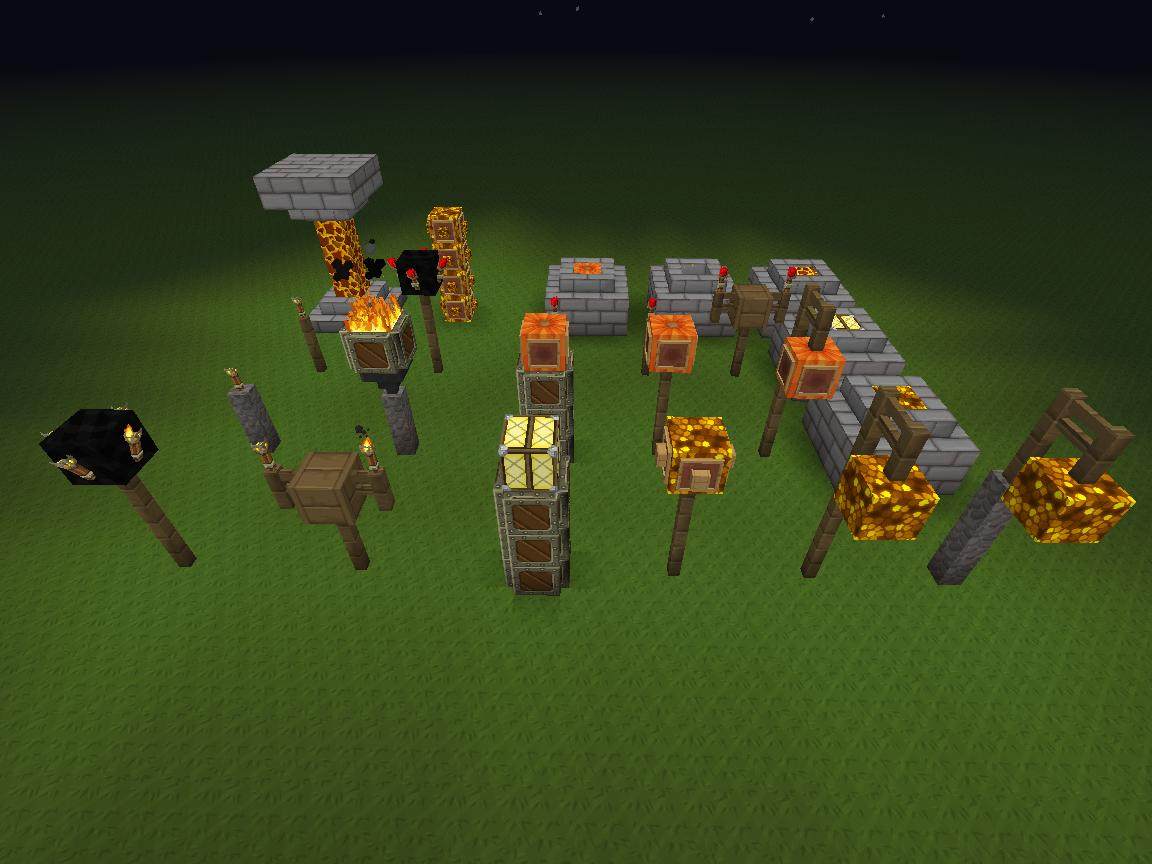 & Light sources compilation Minecraft Project azcodes.com