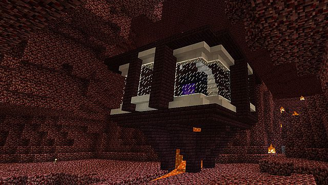 Nether Portal Room Minecraft Project