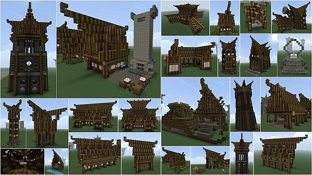 Nordic Medieval Building Pack Minecraft Project