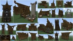 Nordic / Medieval building pack Minecraft Map & Project