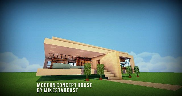 Modern house concept minecraft project for Modern house concept
