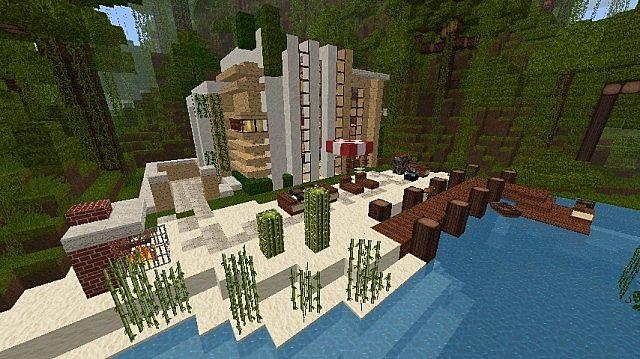 карта мини механический дом для майнкрафт #6