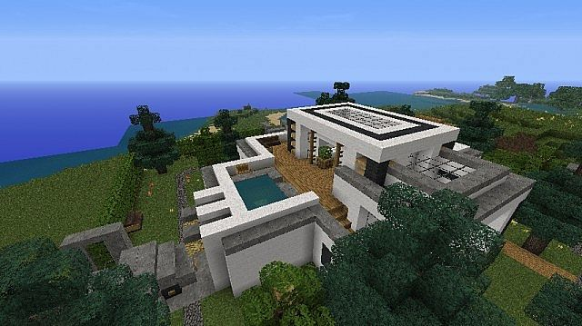 Modern House Maison Moderne By Tinkrecky Update V2 2 Minecraft Project