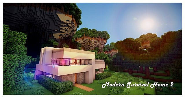 Modern Survival Home 2 functional Minecraft Project