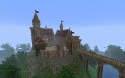 Castle Lionsheart- epic Castle on a rock Minecraft