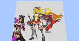 CHuN's Kittyler pixel art. (300x290 pixels) + Voicaloid! Minecraft