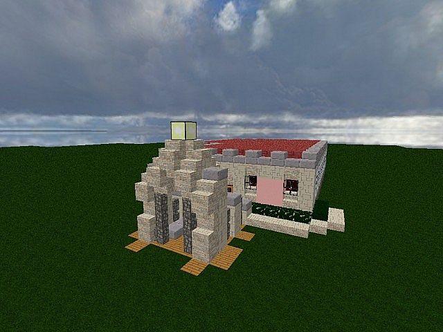 Das haus der reichen a minecraft modern build minecraft for Minecraft haus modern