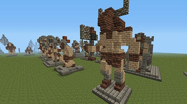 The Evil Sketchs Statues Minecraft Project
