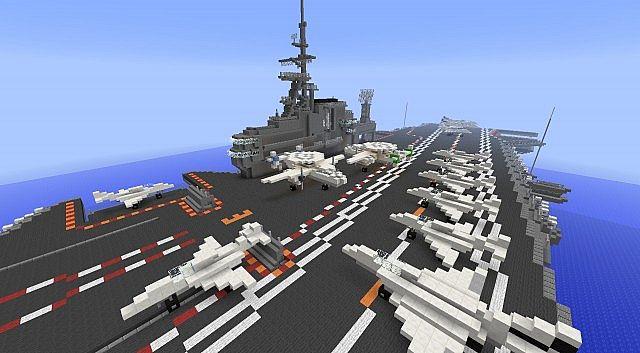 aircraft carrier   uss midway cv 41  minecraft project