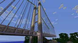 My first Suspension Bridge : Bridge of Friendship Minecraft Map & Project