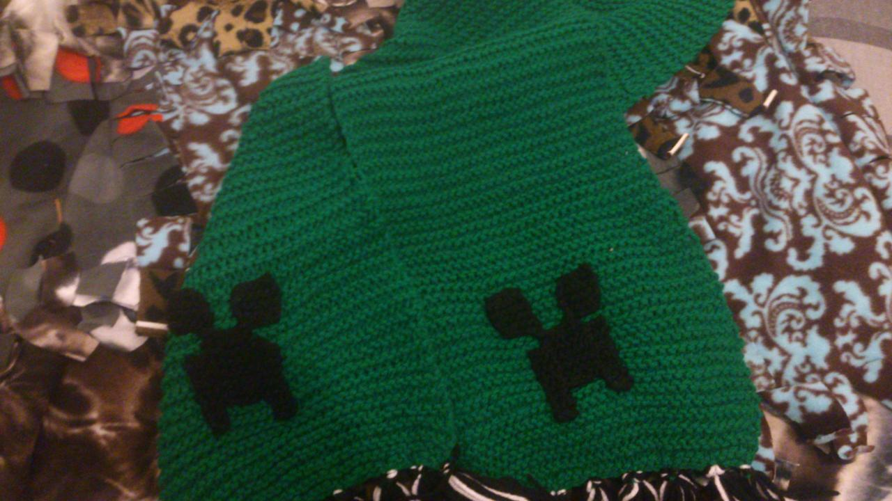 Knitted Creeper Scarf Minecraft Blog